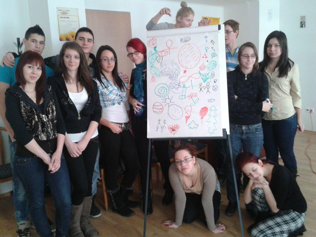 Hajós Zsuzsa matematikai drámaműhelyének résztvevői