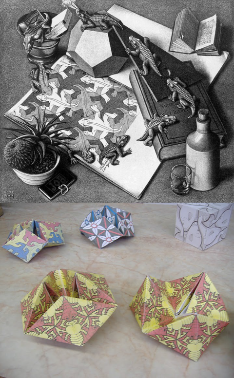9. műhely: M. C. Escher művészetétől a Mőbiusz-szalagig és vissza – minták háromdimenziós felületeken Dr. Stettner Eleonórával (Kaposvári Egyetem, ÉlményMűhely)